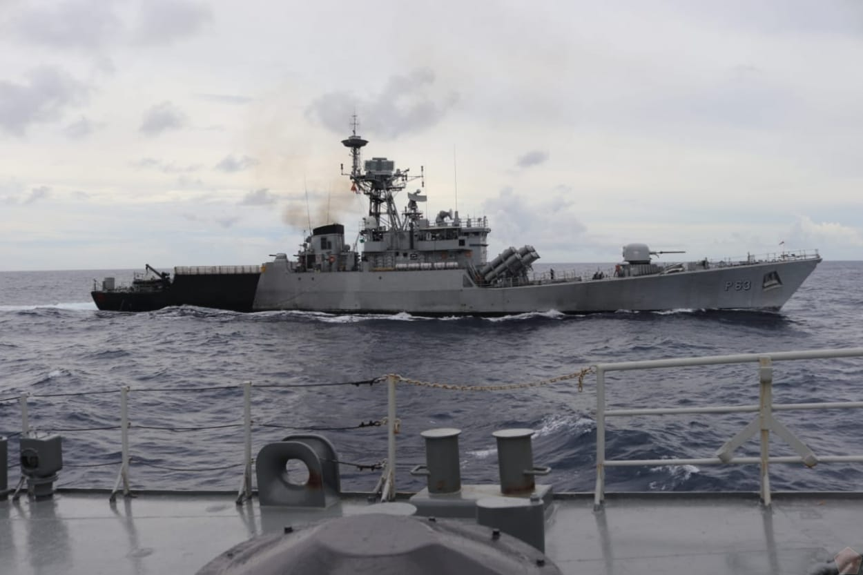 Indonesian Navy Sends Its Battleship to Attend Bilateral Cooperation Called India-Indonesia Coordinated Patrol
